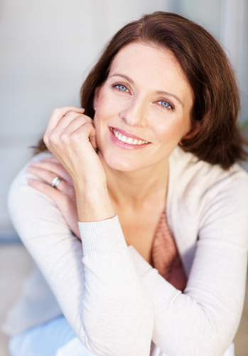 Dental Implant Solutions Smiling Woman Hands