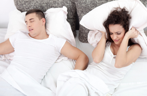 Sleep Apnea Snoring Awake spouse couple
